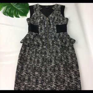 Bebe beautiful midi peplum dress